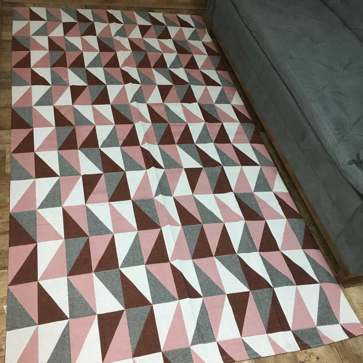 Tapete Geometrico para Sala Dubai Terracota - 250x132