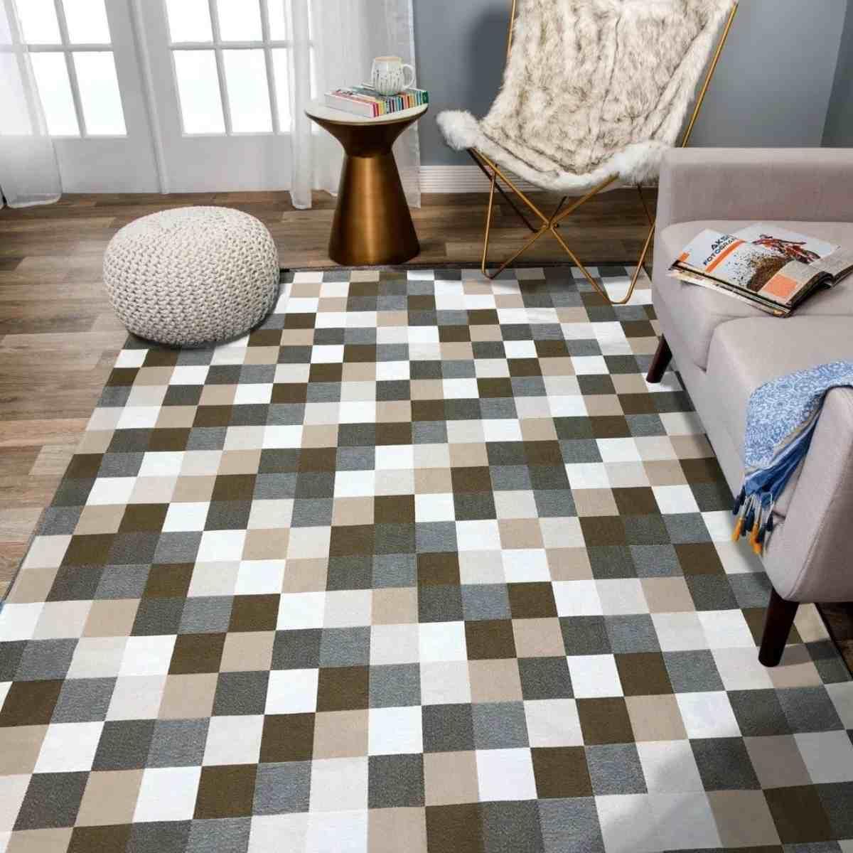 Tapete Geometrico para Sala Florença Caramelo - 250x132