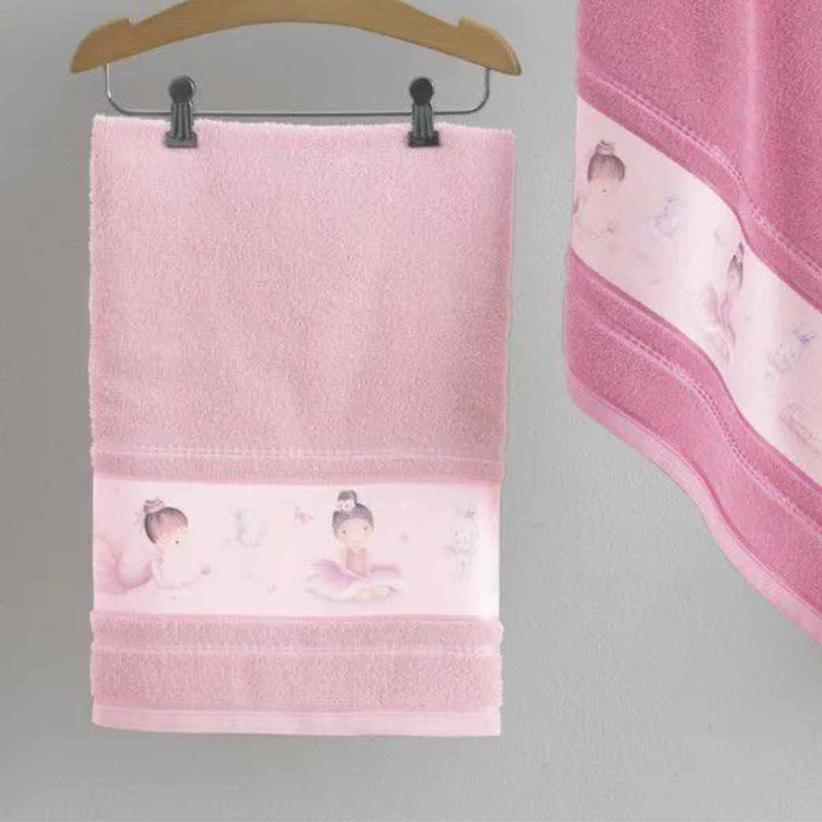 Toalha Banho Infantil Bailarina Rosa Tutu
