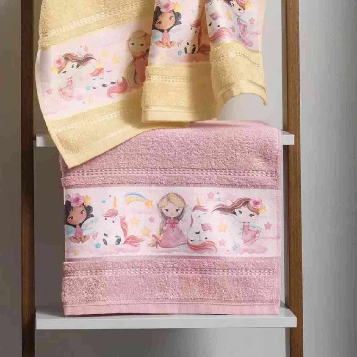 Toalha Banho Infantil Encantada Rosa Tutu