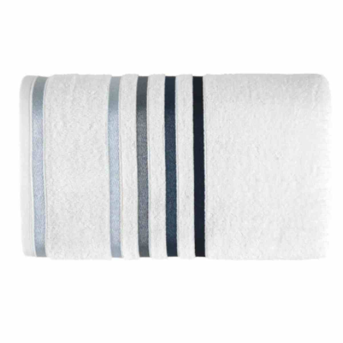 Toalha de Banho Lumina 70x140 Branco/Azul
