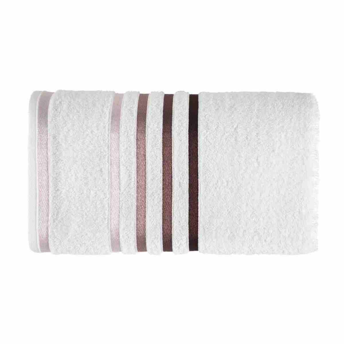 Toalha de Banho Lumina 70x140 Branco/Roxo