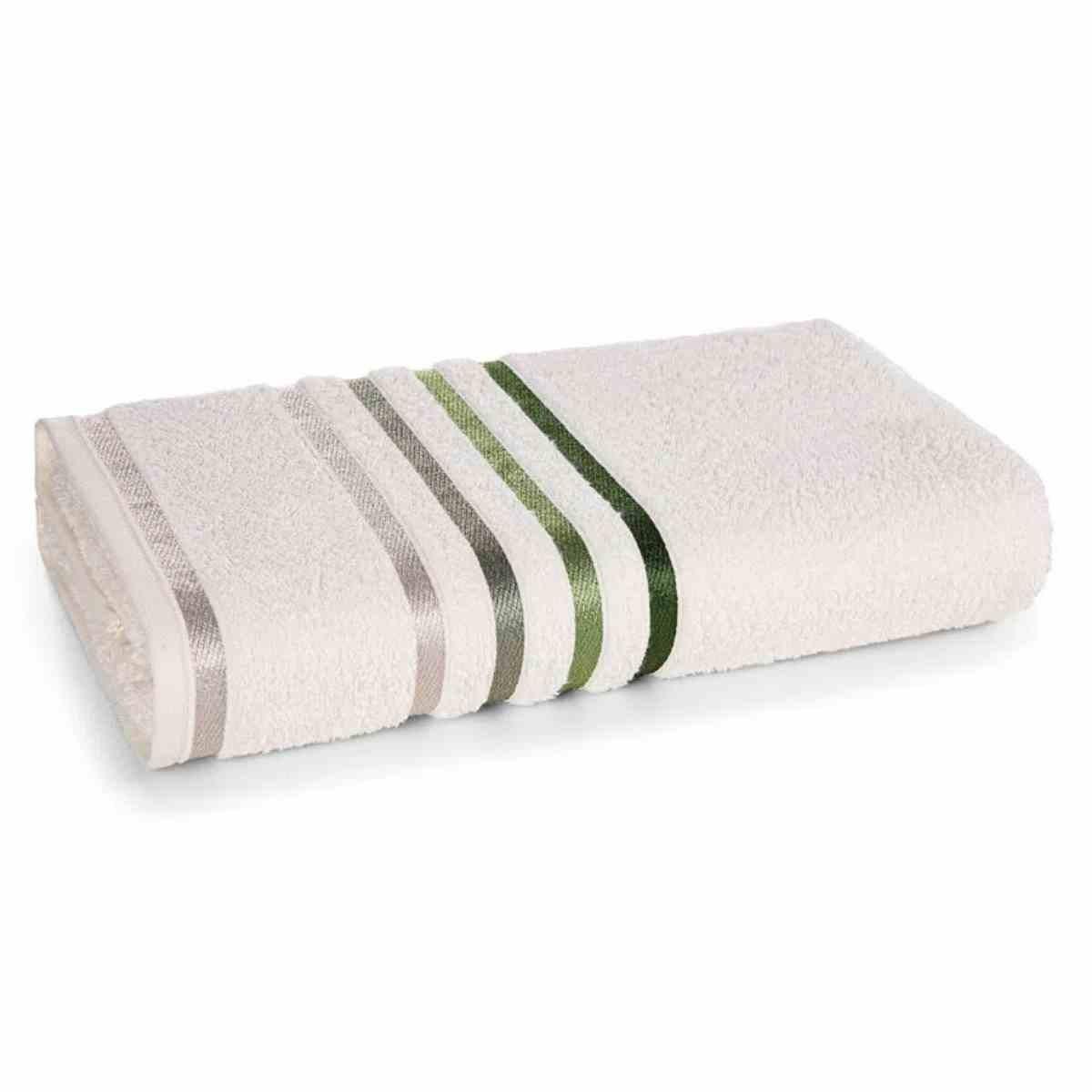 Toalha de Banho Lumina 70x140 Ivory/Verde
