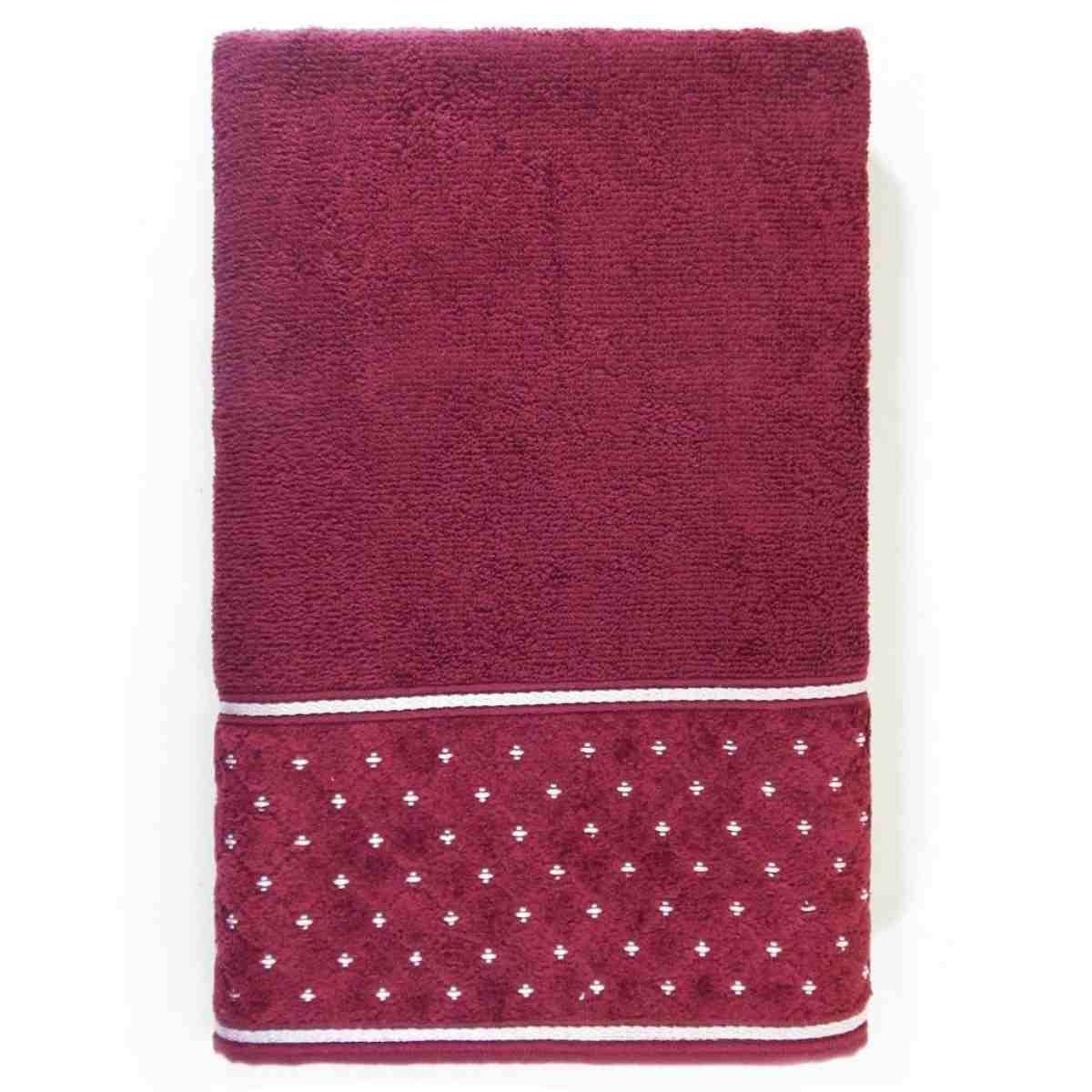 Toalha banho safira 68x140 Bordo Real