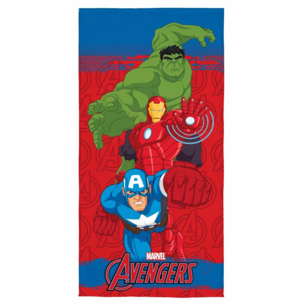 Toalha Banho Infantil Aveludada Avengers