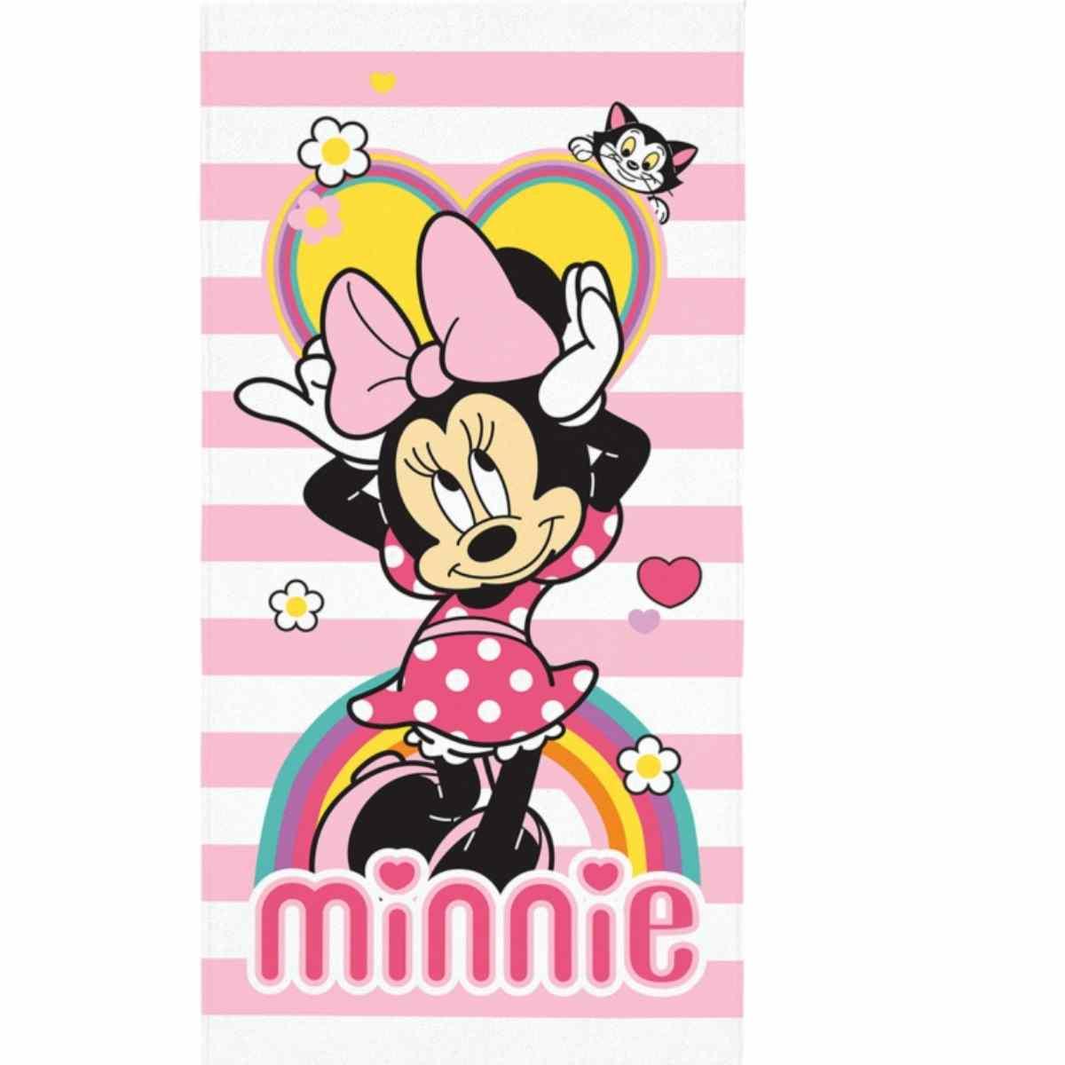 Toalha Banho Infantil Aveludada Minnie