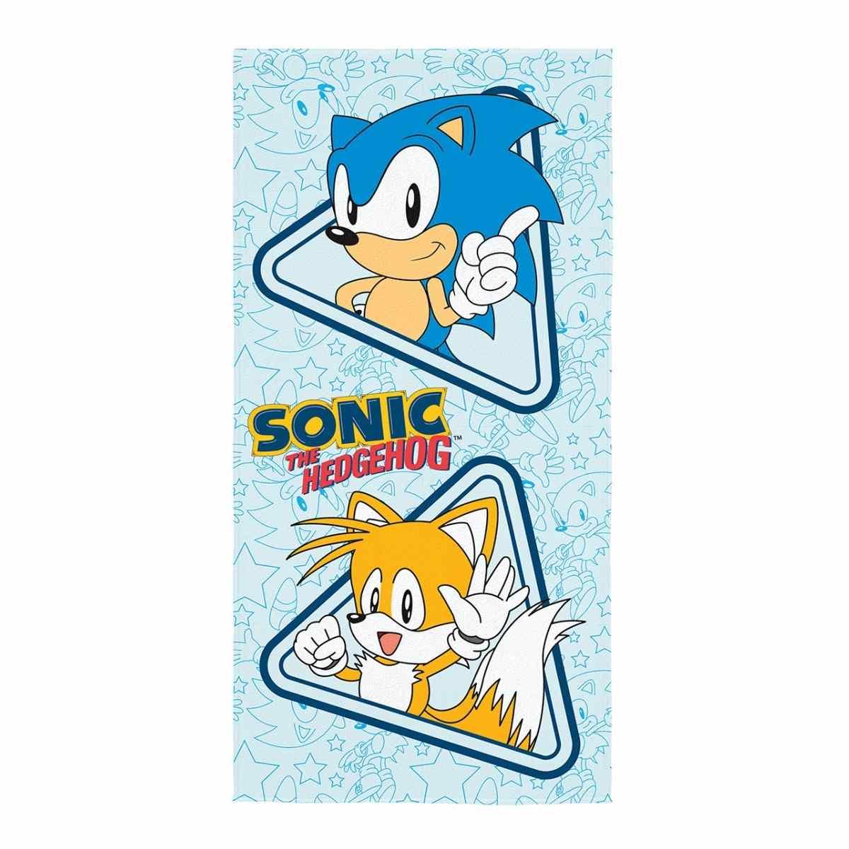 Toalha de Banho Infantil Aveludada Sonic