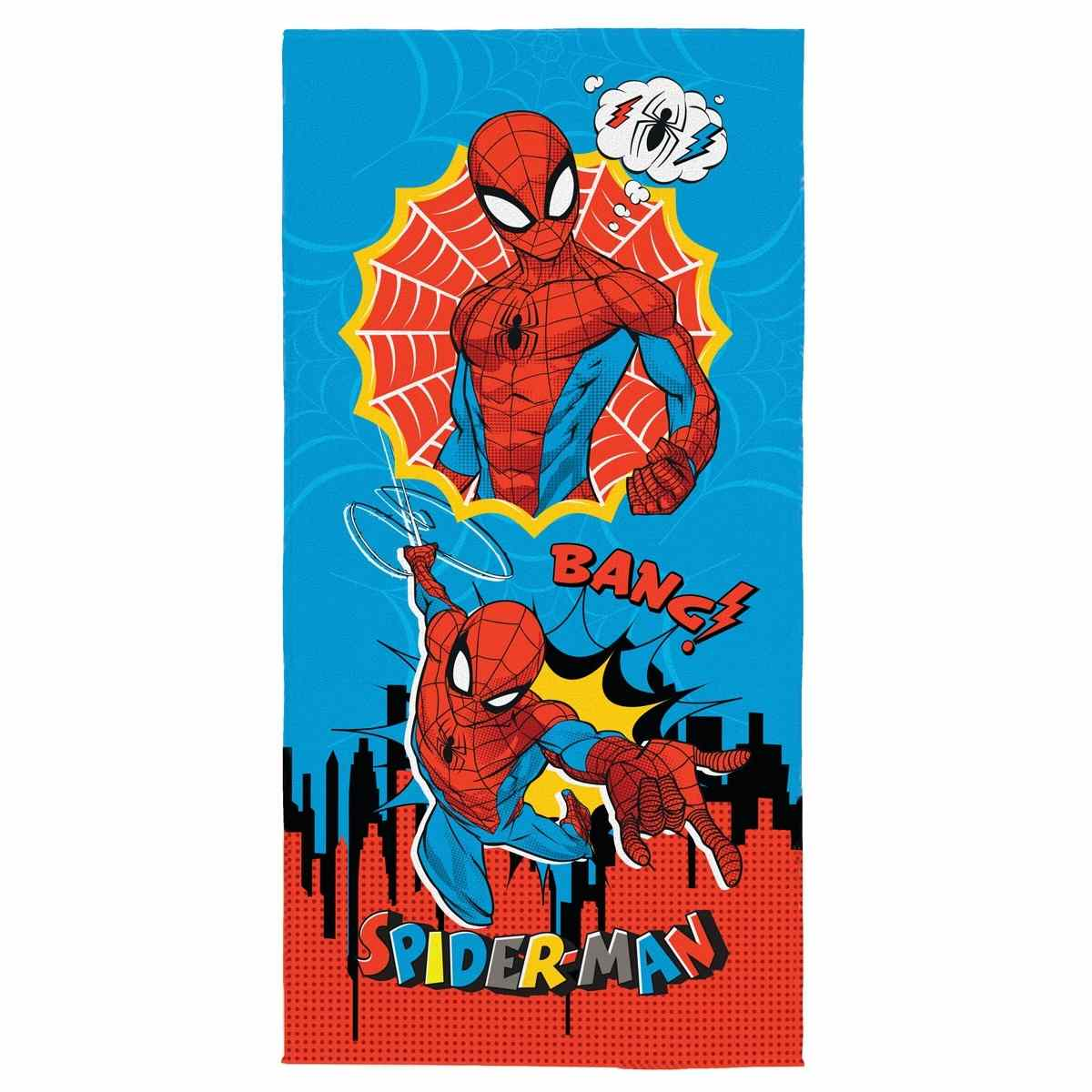 Toalha de Banho Infantil Aveludada Spider Man 61545