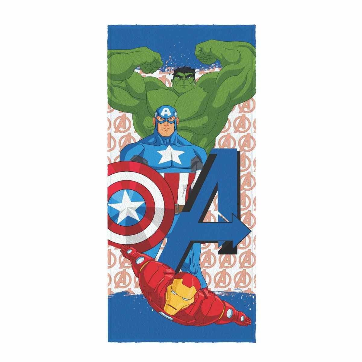 Toalha banho infantil felpuda 60x120 Avengers Est 4