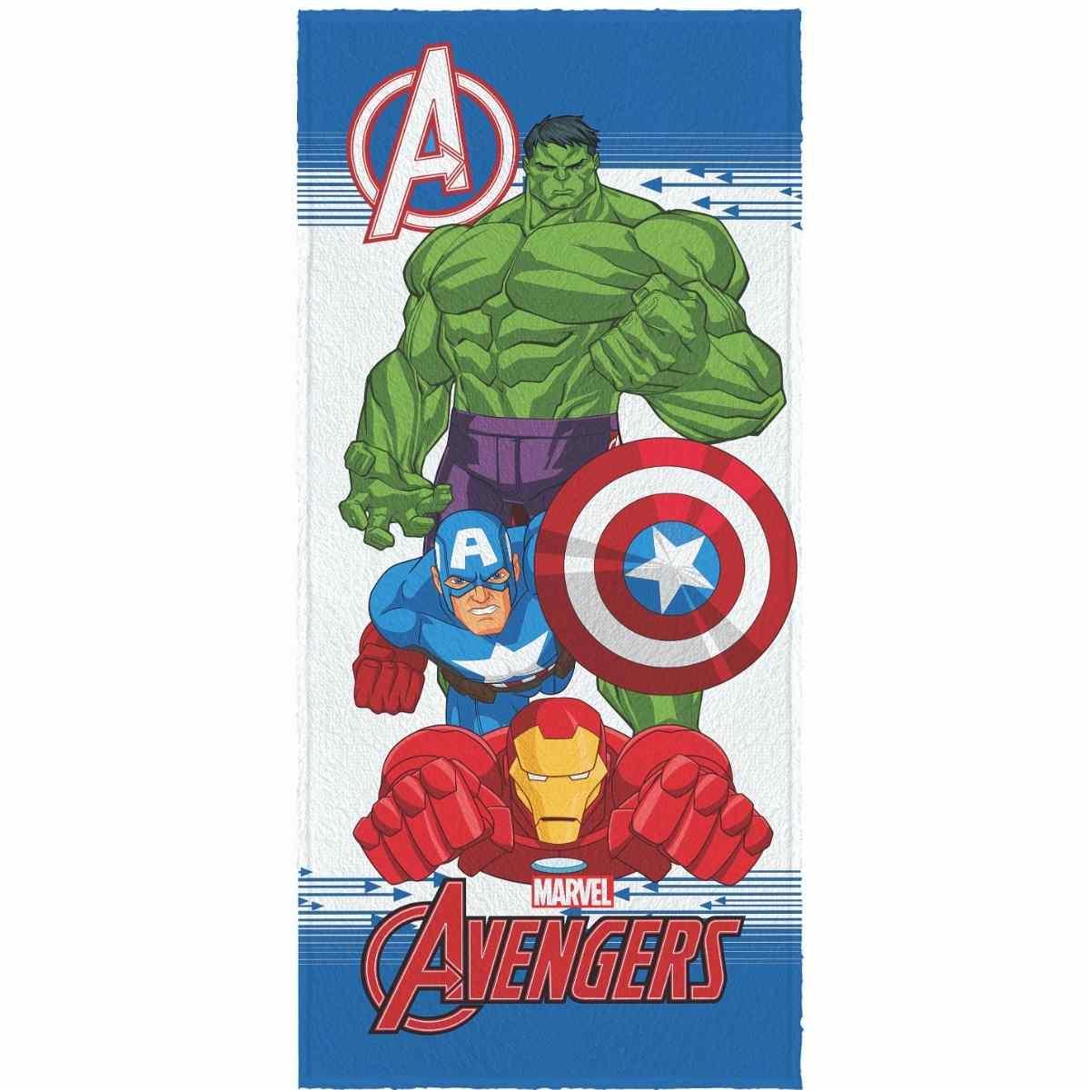 Toalha Banho Infantil Felpuda 60x120 Avengers Est 5