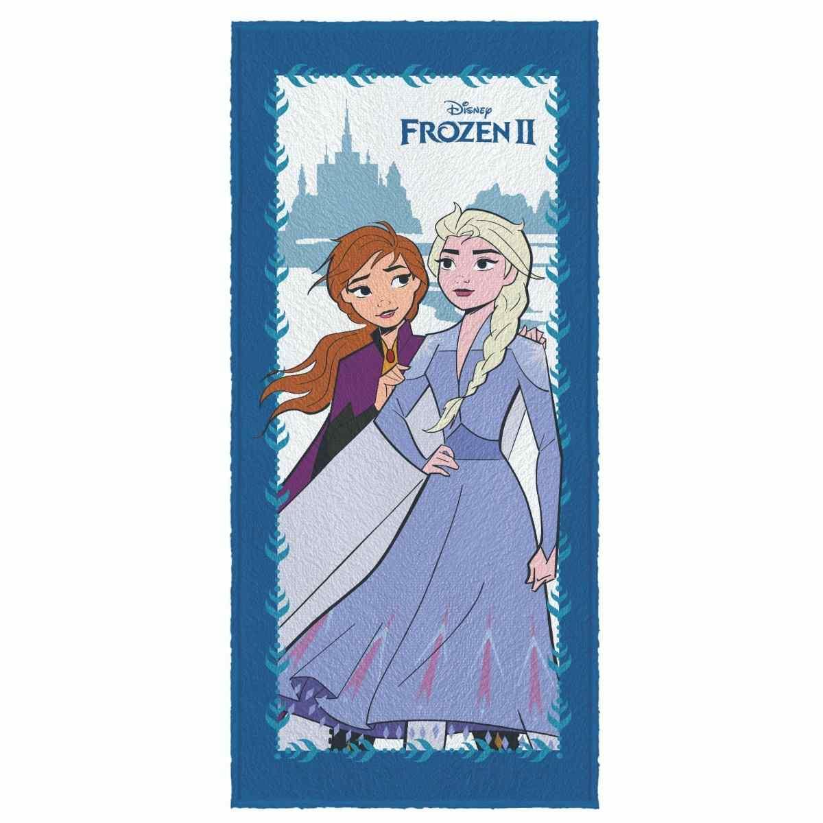 Toalha de Banho Infantil Felpuda 60x120 - Frozen Est 1