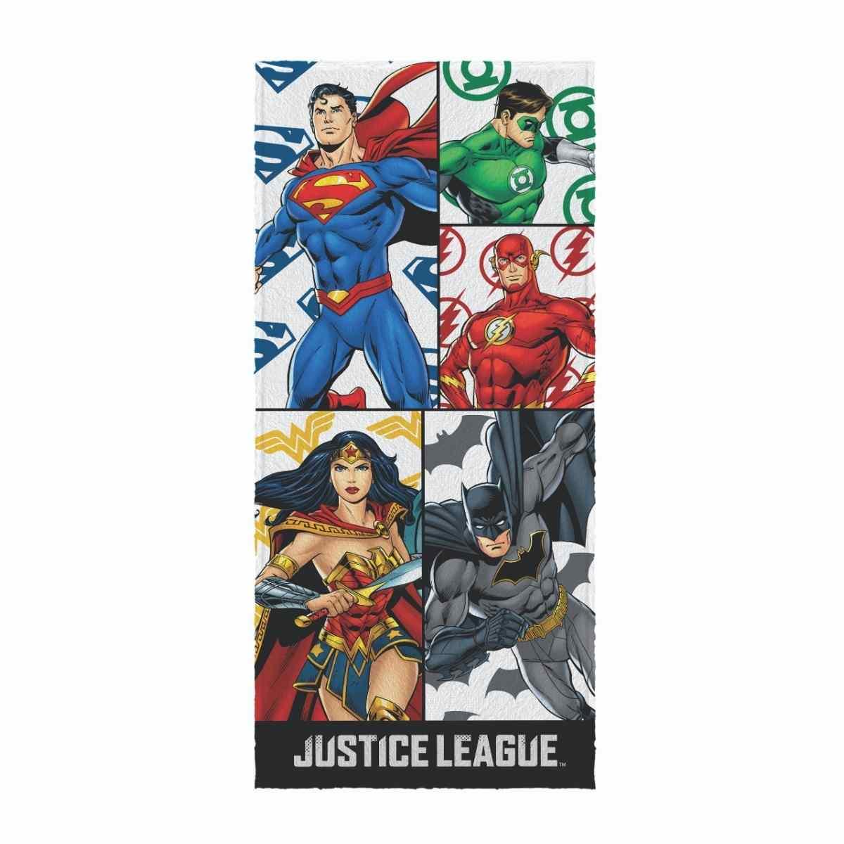 Toalha de Banho Infantil Felpuda 60x120 - Liga da Justiça Est 1