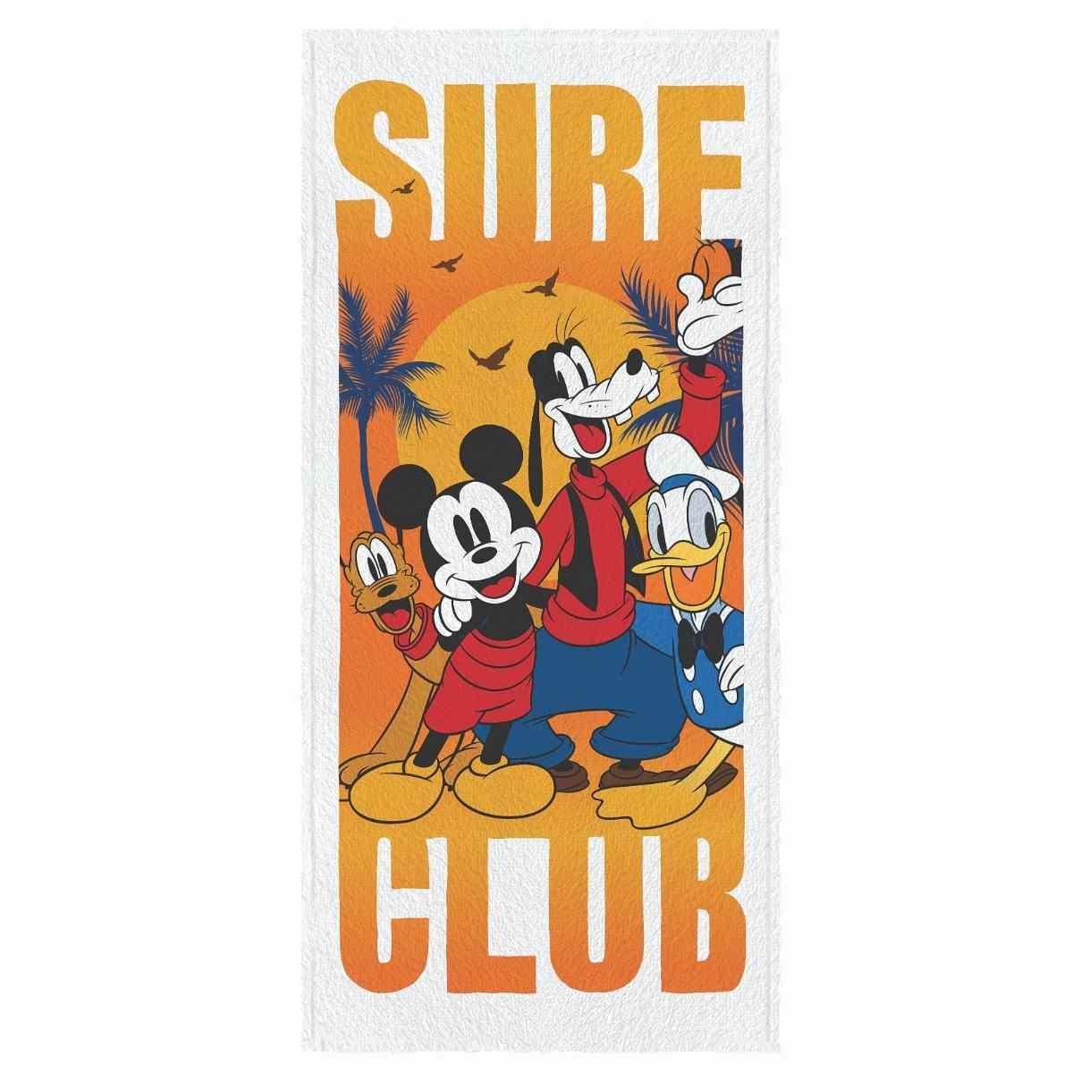 Toalha banho infantil felpuda 60x120 Mickey and friends Est 1