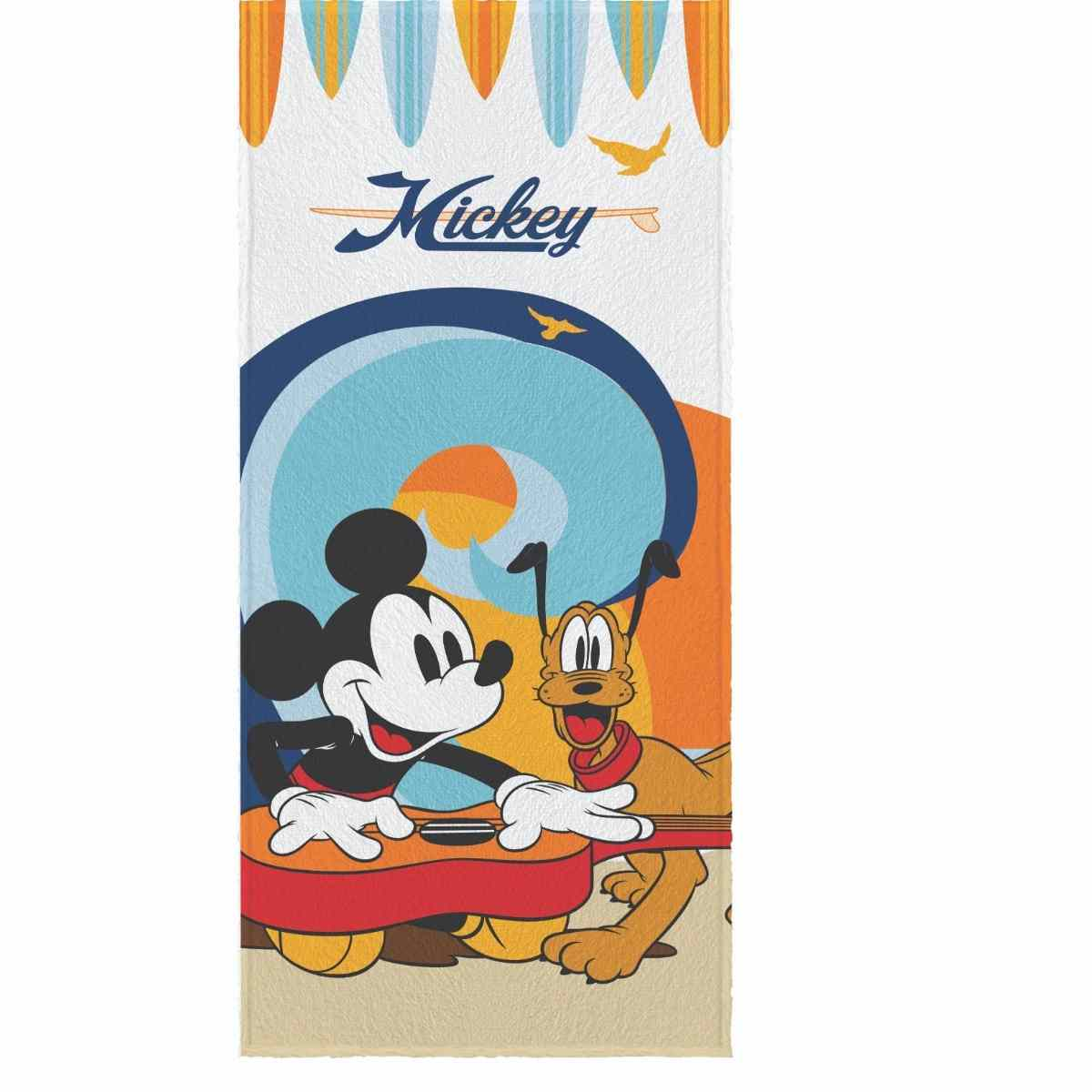 Toalha Banho Infantil Felpuda 60x120 Mickey and friends Est 3