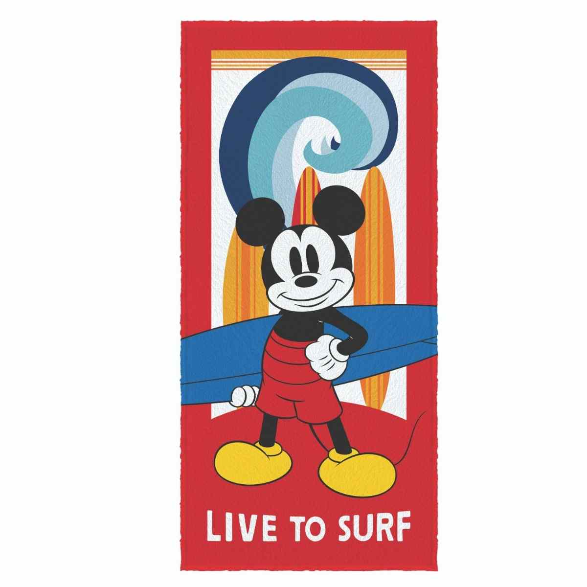 Toalha banho infantil felpuda 60x120 Mickey and friends Est 5