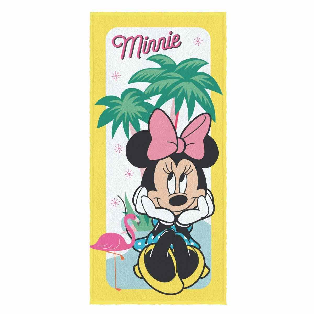 Toalha banho infantil felpuda 60x120 Minnie Est 1