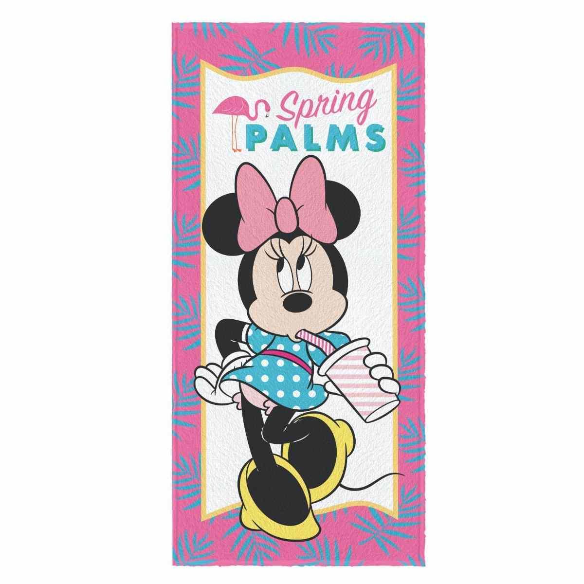 Toalha Banho Infantil Felpuda 60x120 Minnie Est 3