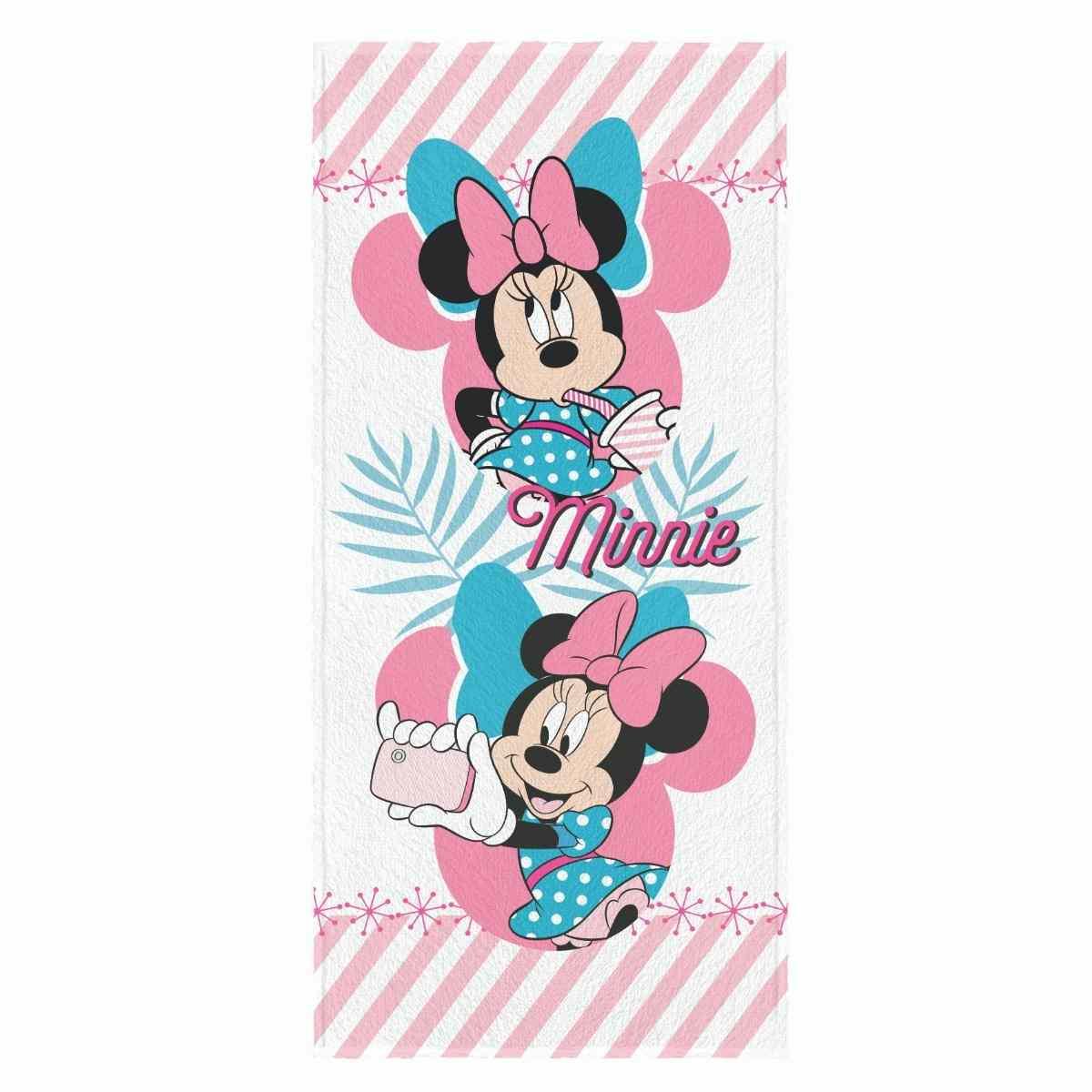 Toalha de Banho Infantil Felpuda 60x120 - Minnie Est 5