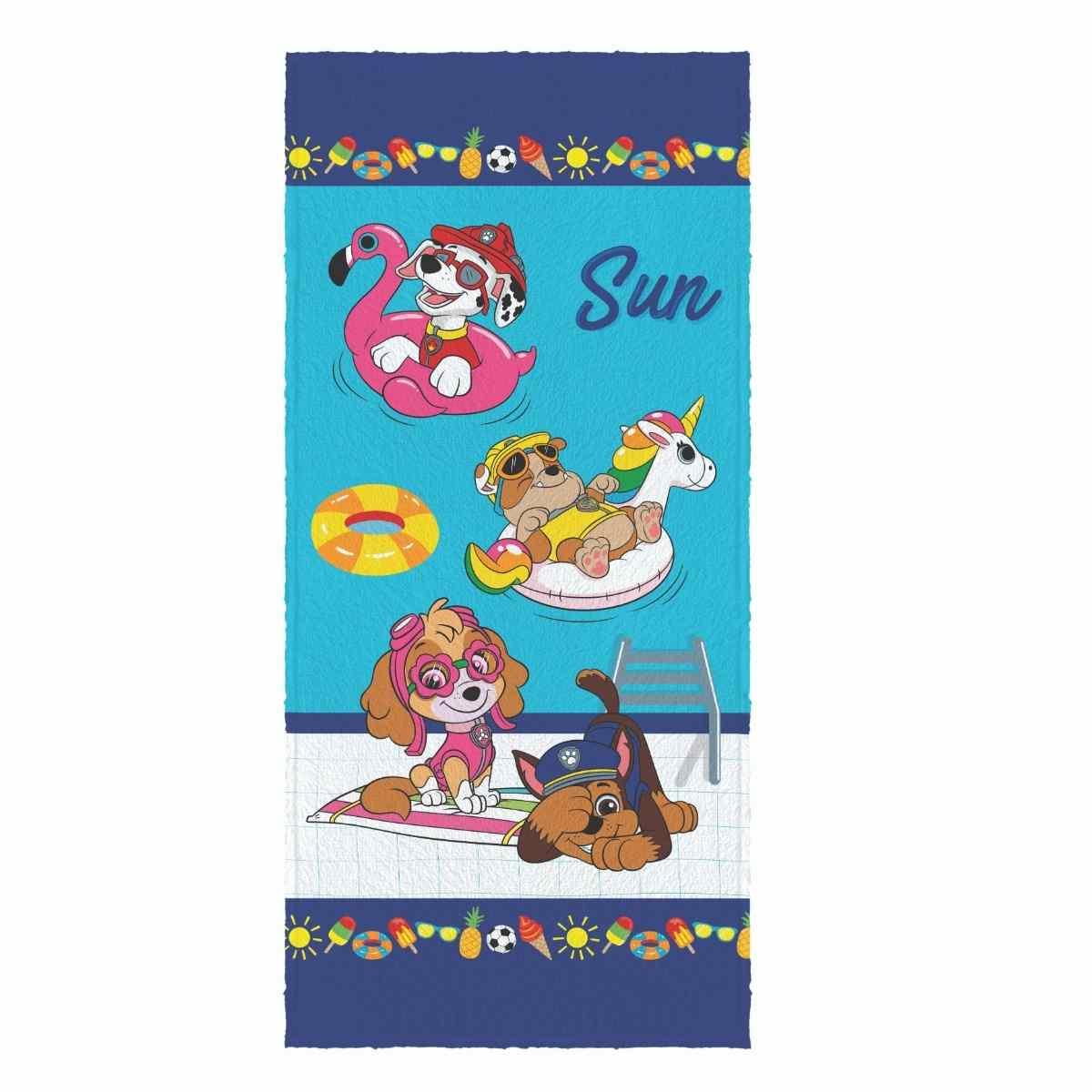 Toalha Banho Infantil Felpuda 60x120 Patrulha Canina Est 5