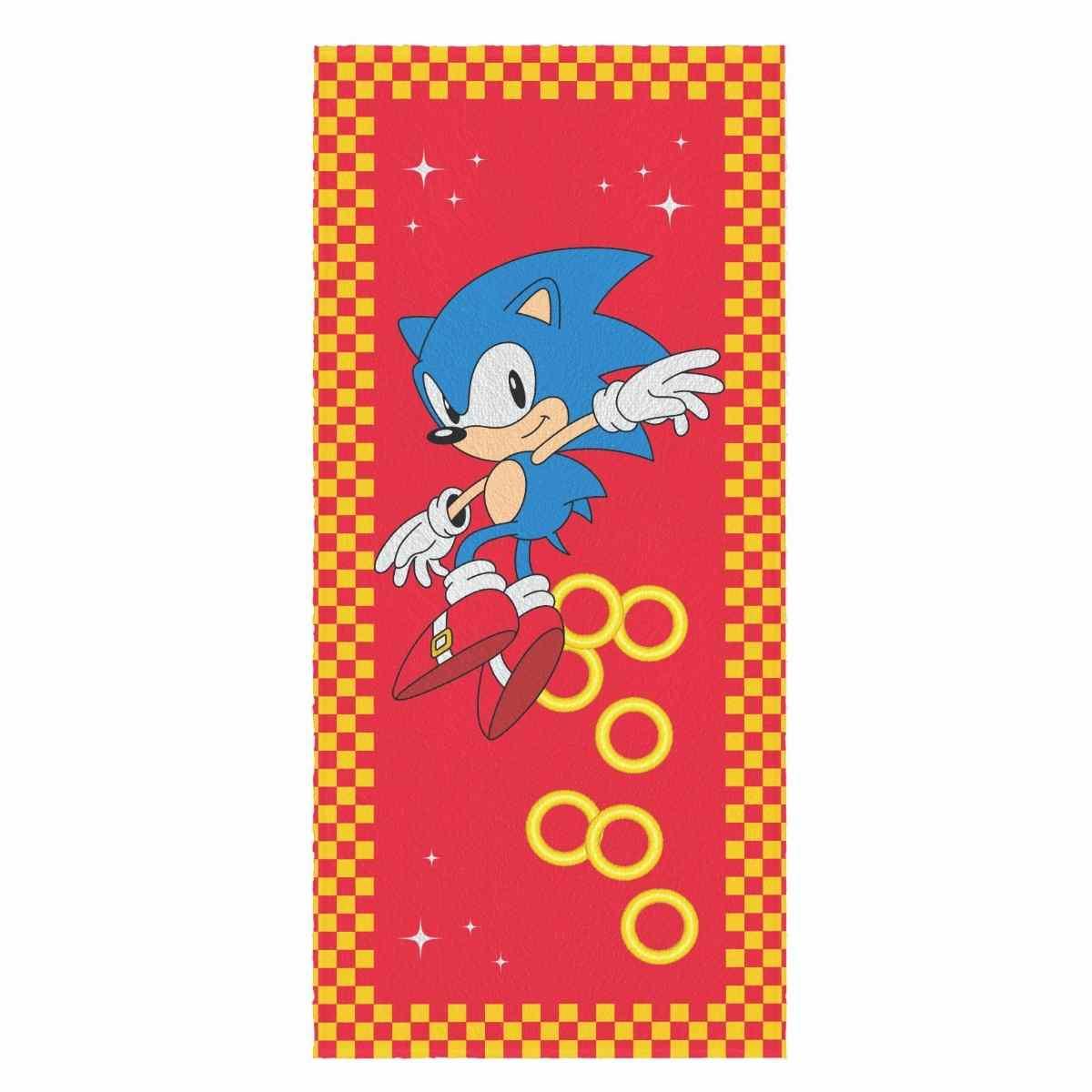 Toalha Banho Infantil Felpuda 60x120  Sonic Est 1