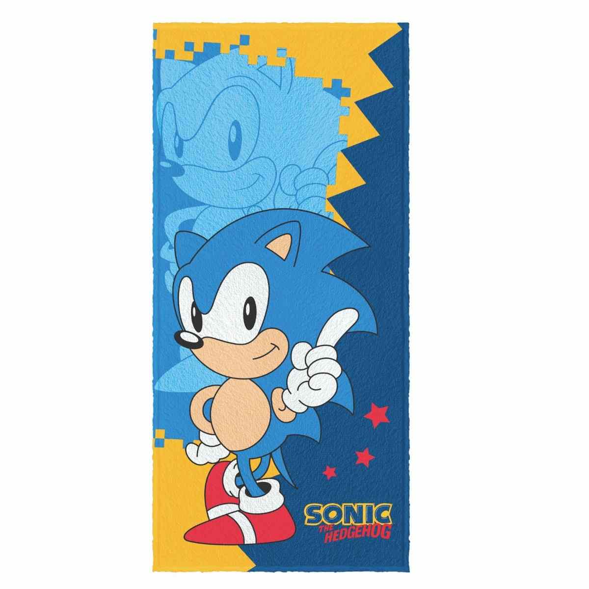 Toalha de Banho Infantil Felpuda 60x120 - Sonic Est 2