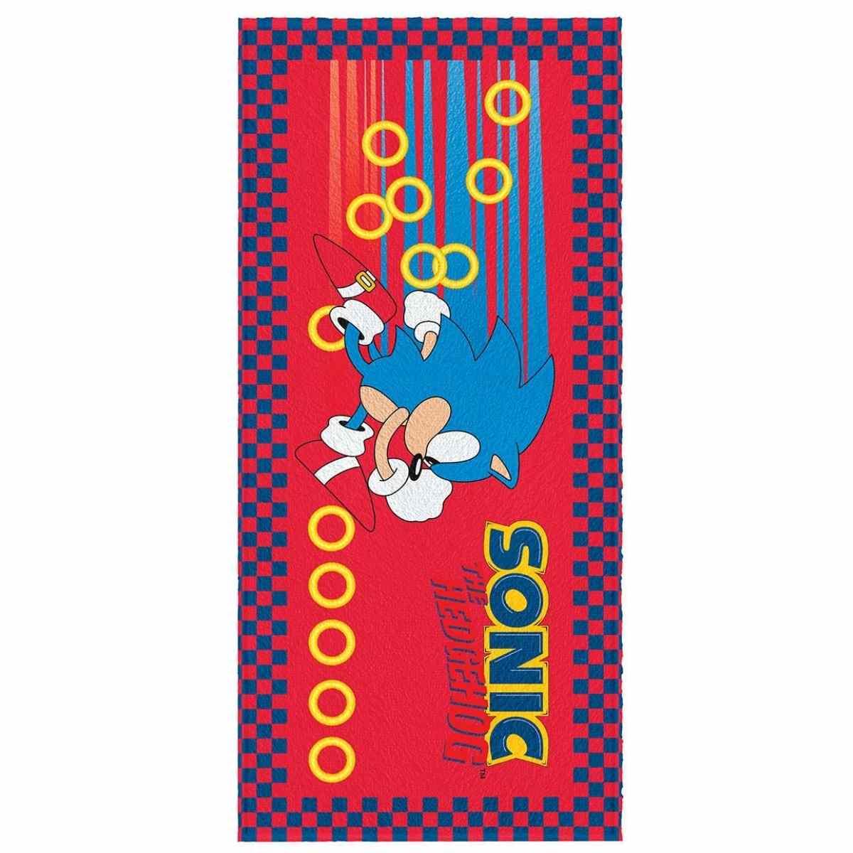 Toalha Banho Infantil Felpuda 60x120  Sonic Est 4