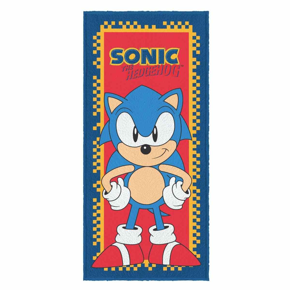Toalha Banho Infantil Felpuda 60x120  Sonic Est 5