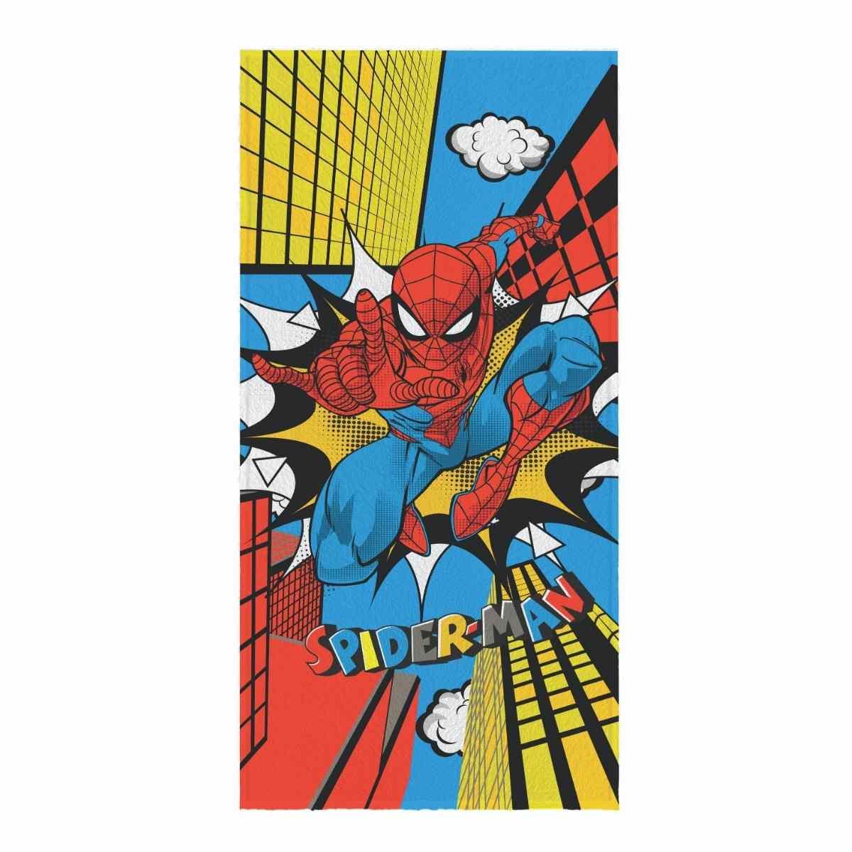 Toalha de Banho Infantil Felpuda 60x120 - Spider Man Est 1