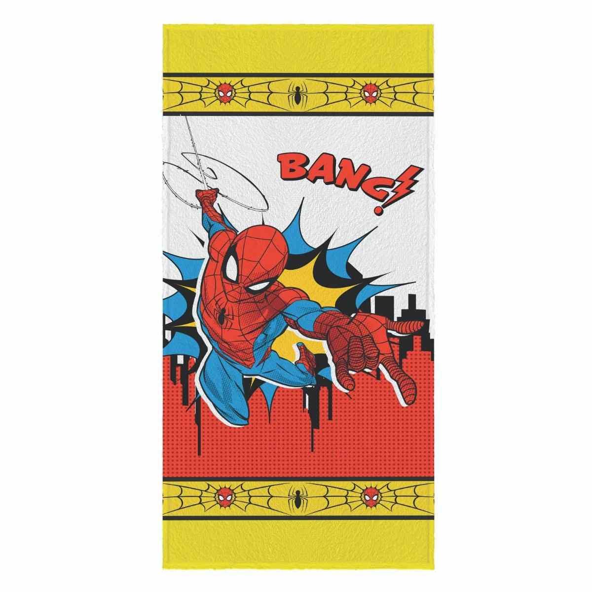 Toalha banho infantil felpuda 60x120 Spider Man Est 2