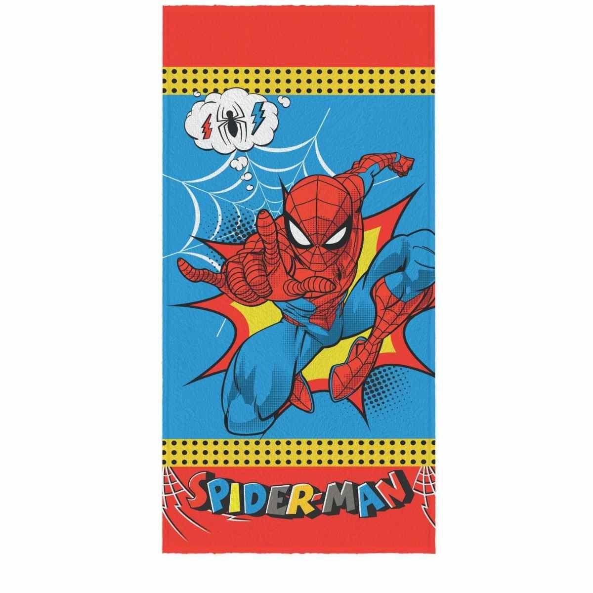 Toalha Banho Infantil Felpuda 60x120 Spider Man Est 3