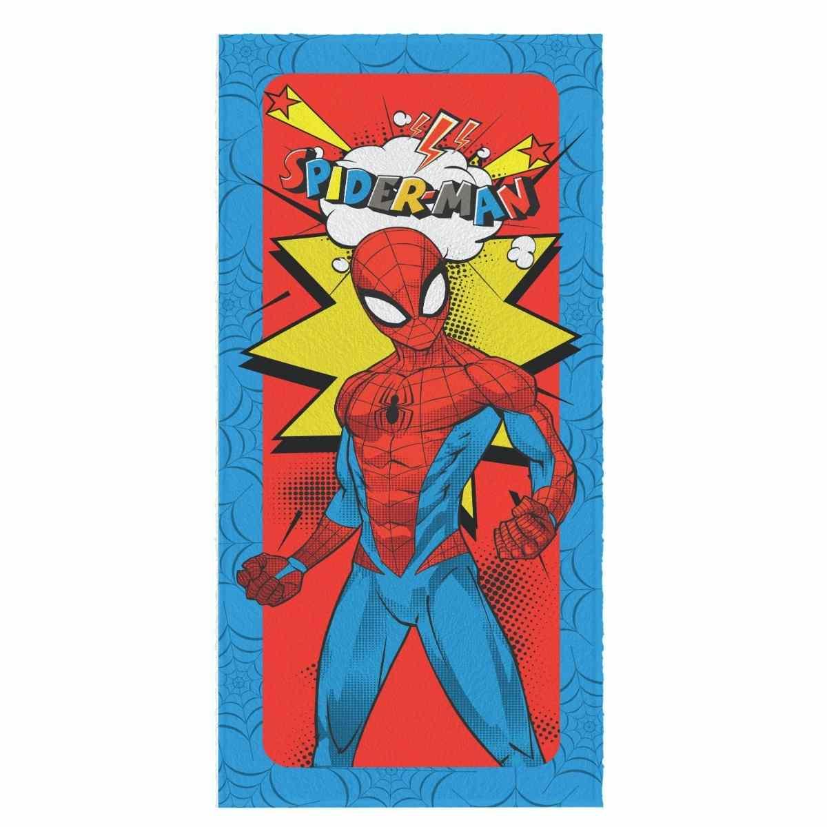 Toalha de Banho Infantil Felpuda 60x120 - Spider Man Est 4