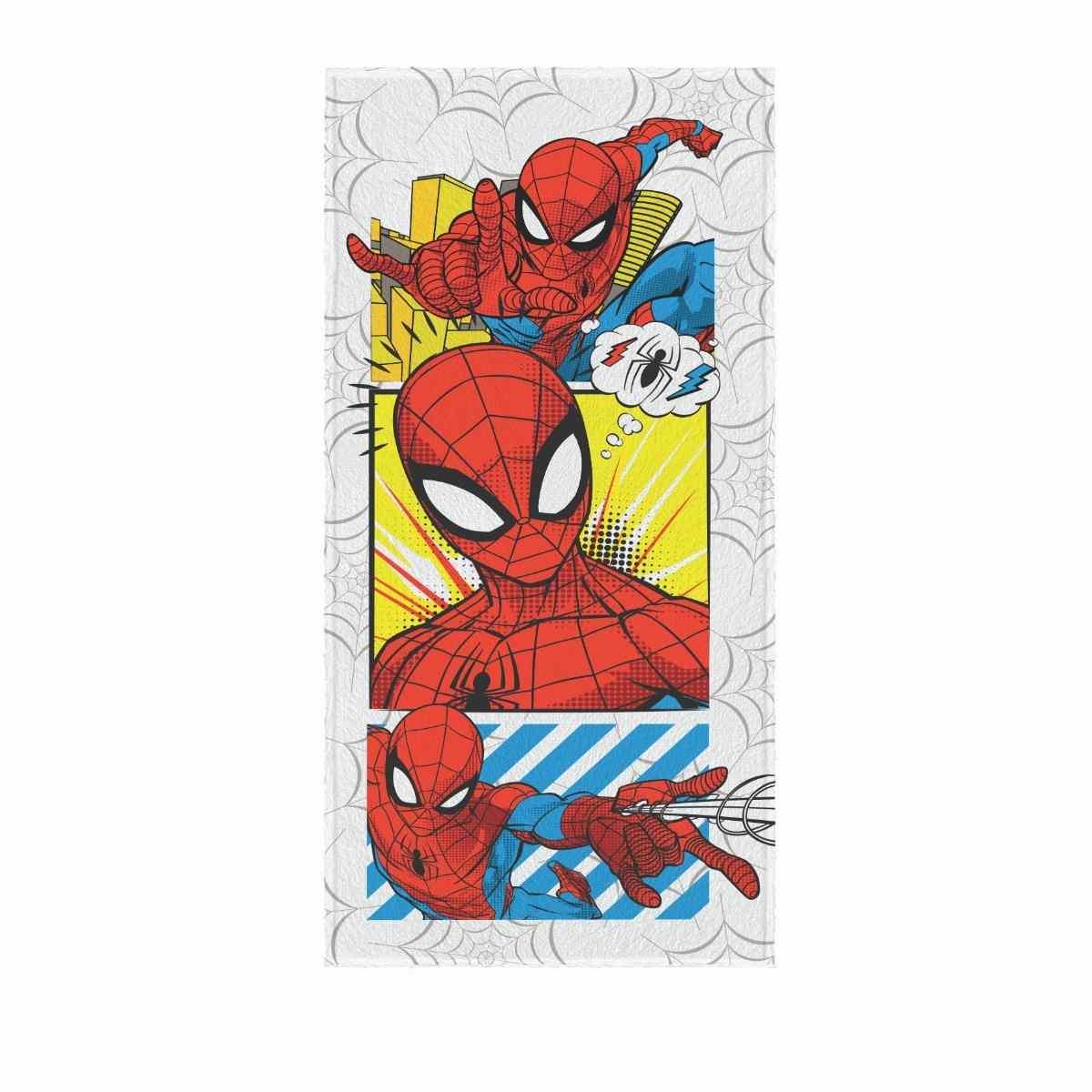 Toalha Banho Infantil Felpuda 60x120 Spider Man Est 5
