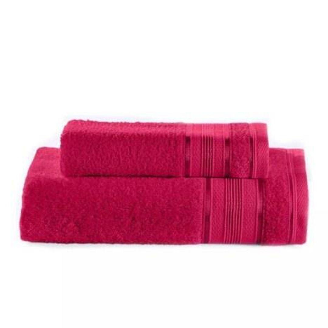 Toalha banho royal lisa 70x130 Knut Cereja4005