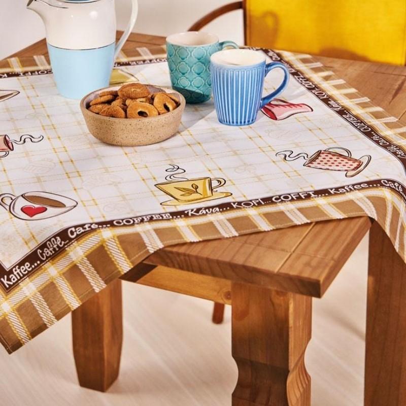 Toalha mesa est 75x75 Café