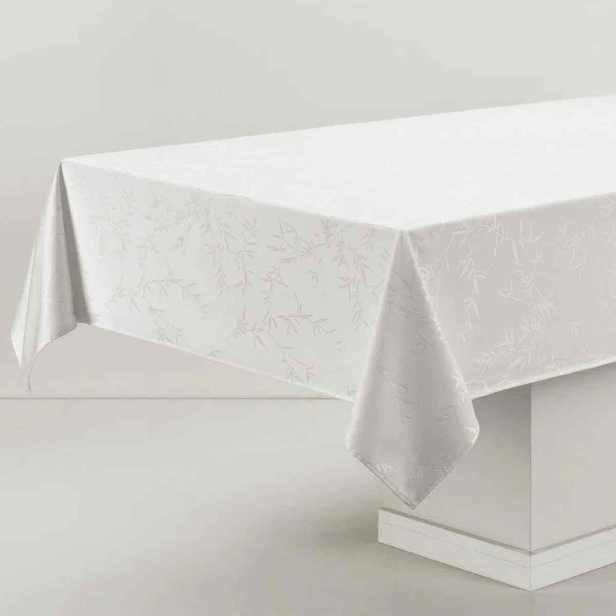 Toalha de Mesa Redonda Verissimo 178rd Branco