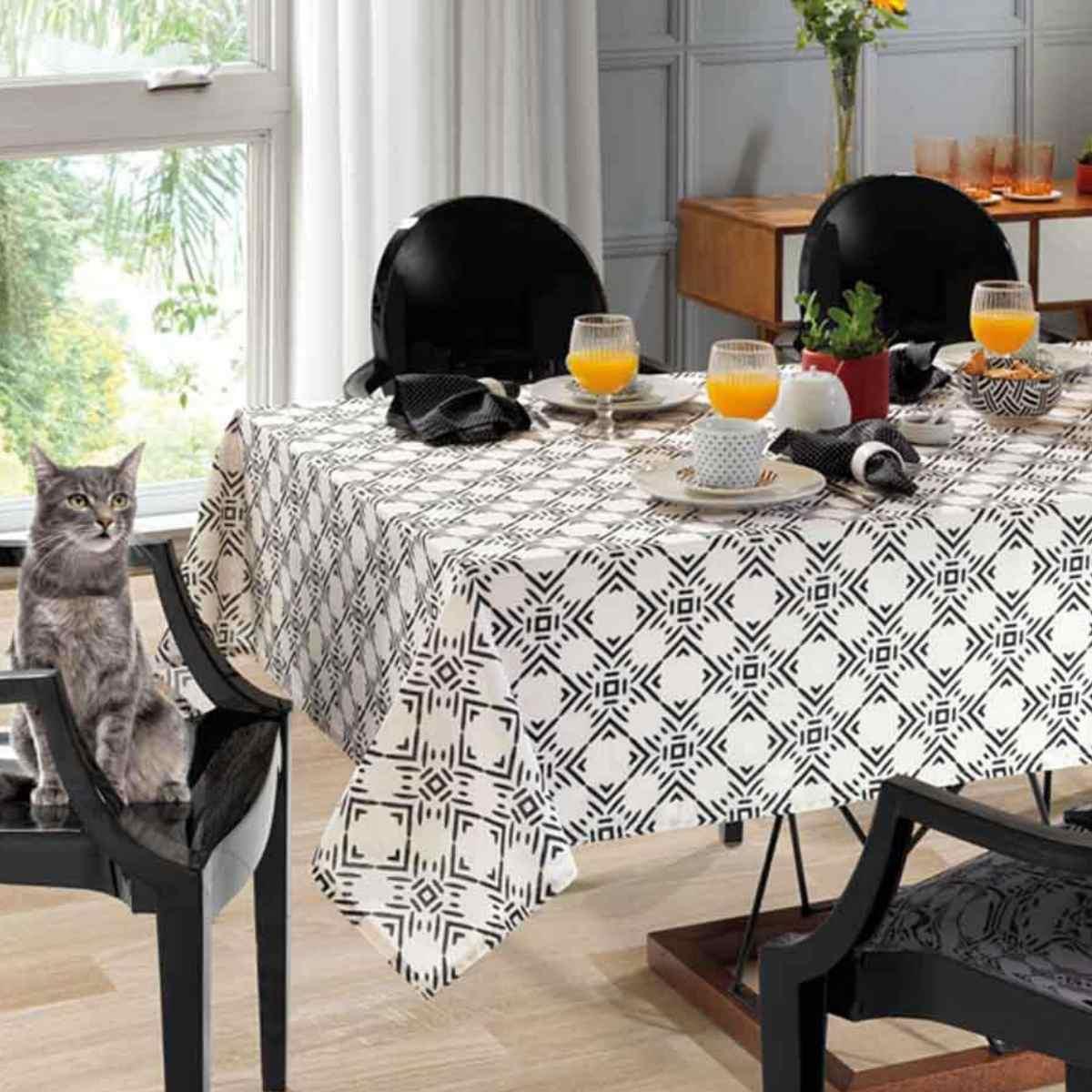 Toalha mesa limpa facil 140x140 Elsa