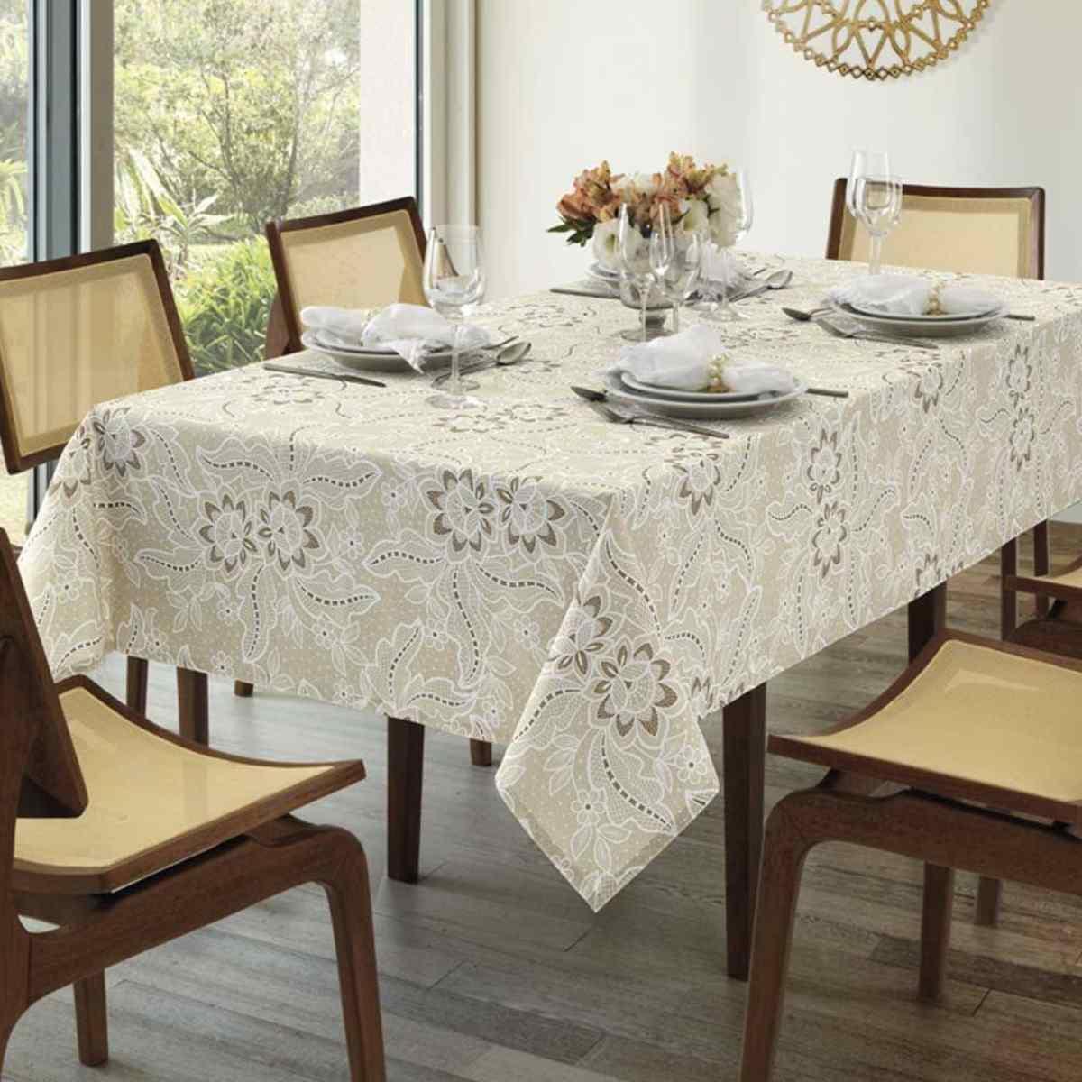 Toalha mesa limpa facil 78x78 Eloah