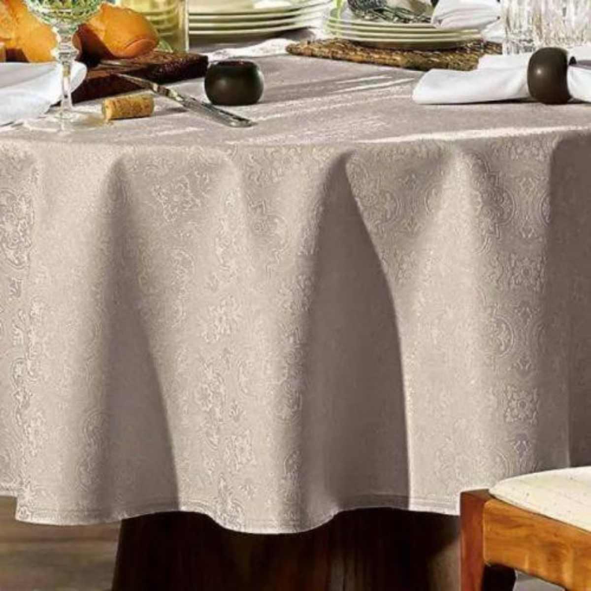 Toalha mesa sempre limpa jacquard  178rd Faenza Noz Moscada