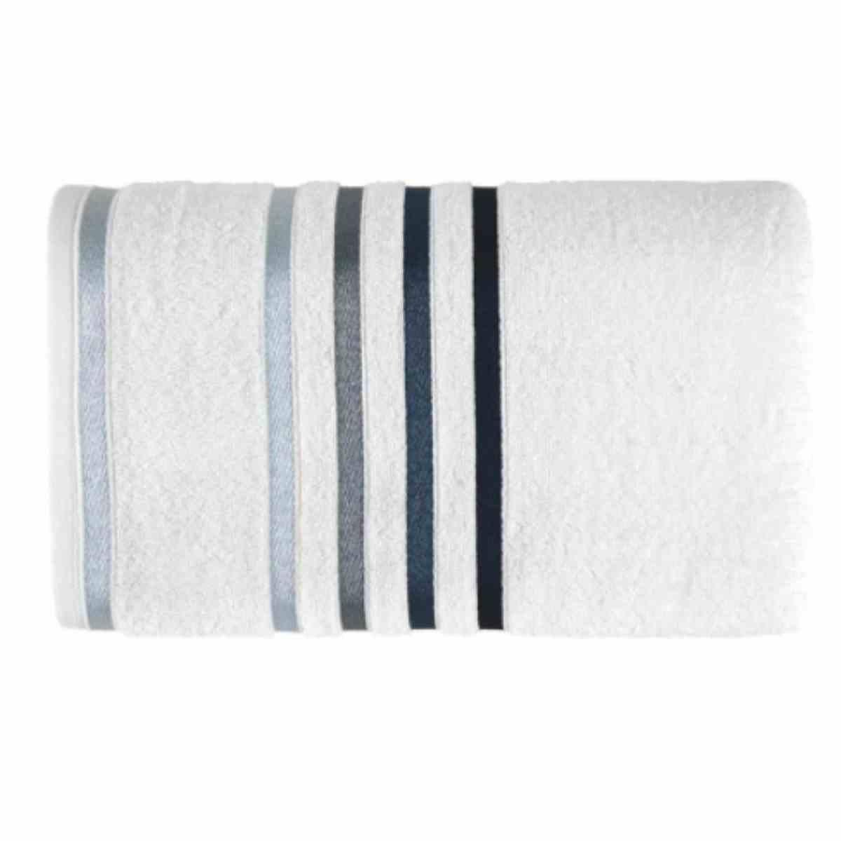 Toalha rosto lumina 48x80 Branco/Azul