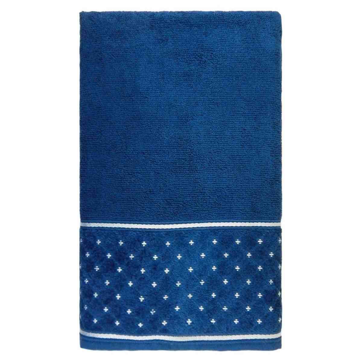 Toalha rosto safira 50x75 Azul Profundo