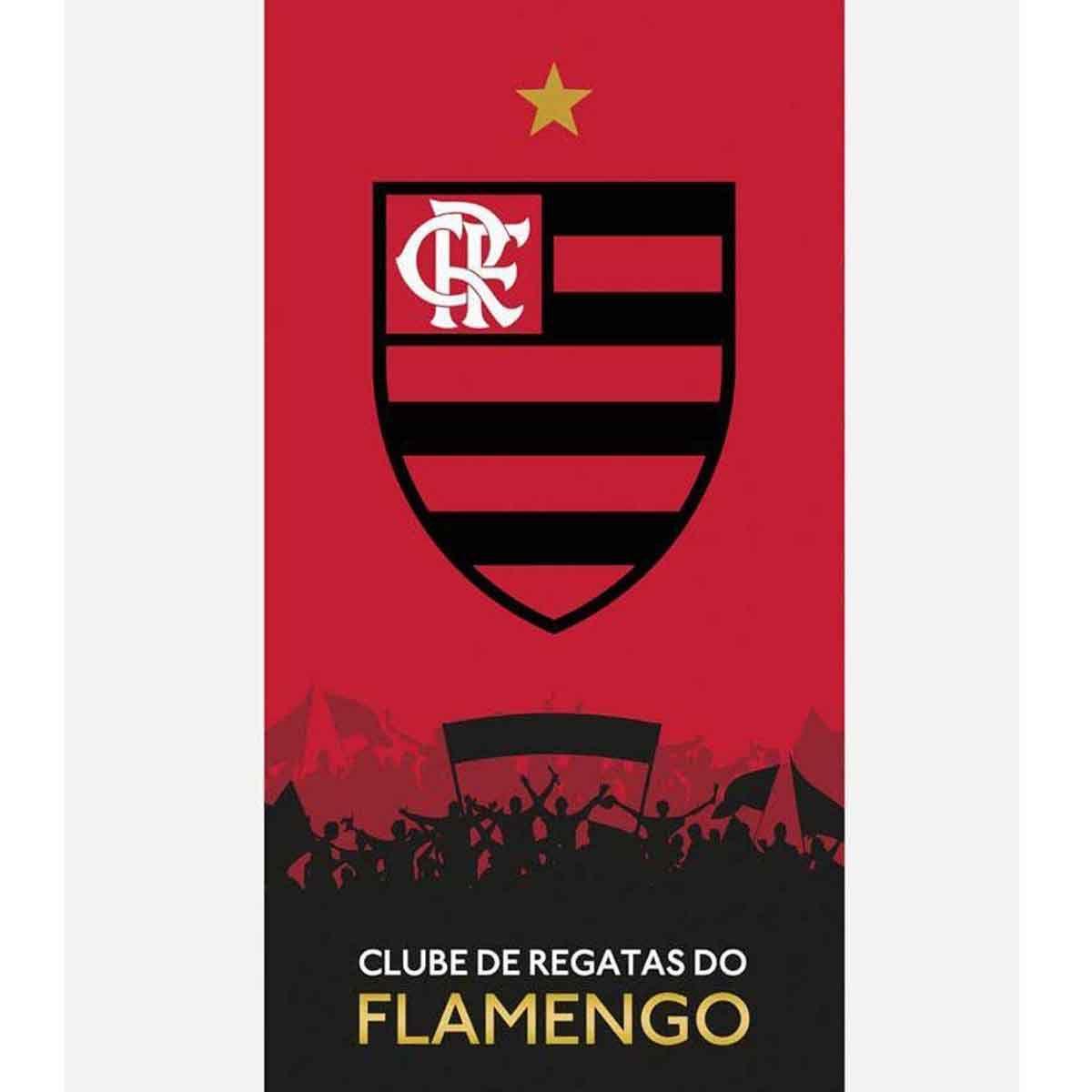 Toalha Time Velour 76x1.52 Flamengo 12