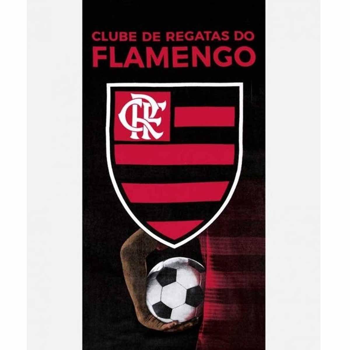 Toalha Time Velour 76x1.52 Flamengo 13