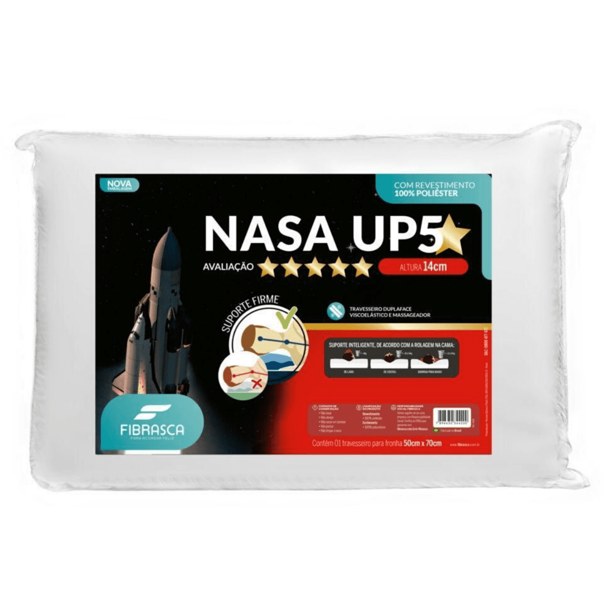 Travesseiro nasa up5 50x70