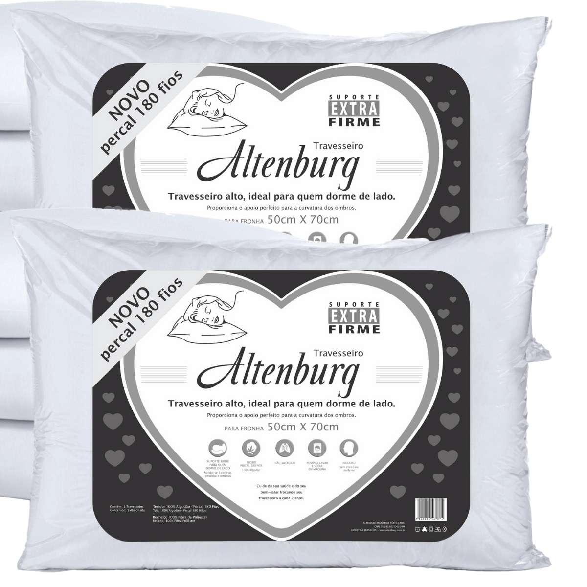 Travesseiros Extra Firme Altenburg - Kit 2 peças
