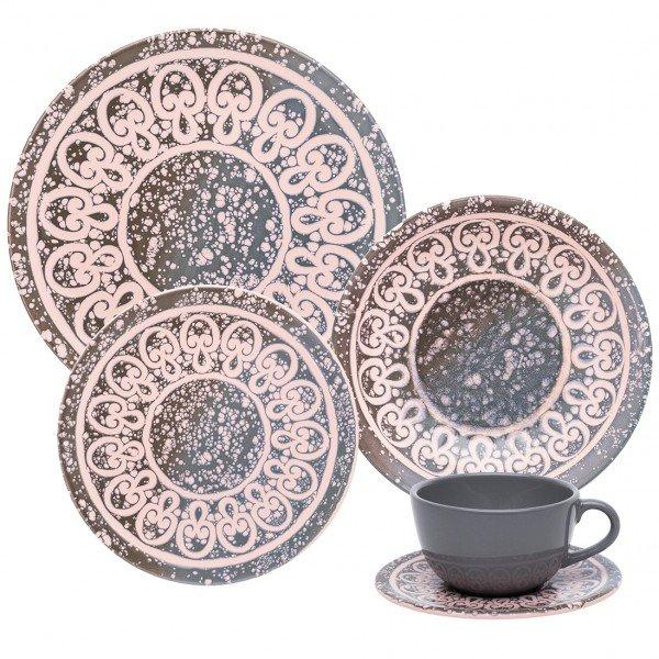 Aparelho Jantar Chá 30 Peças Unni Elo Oxford Porcelanas