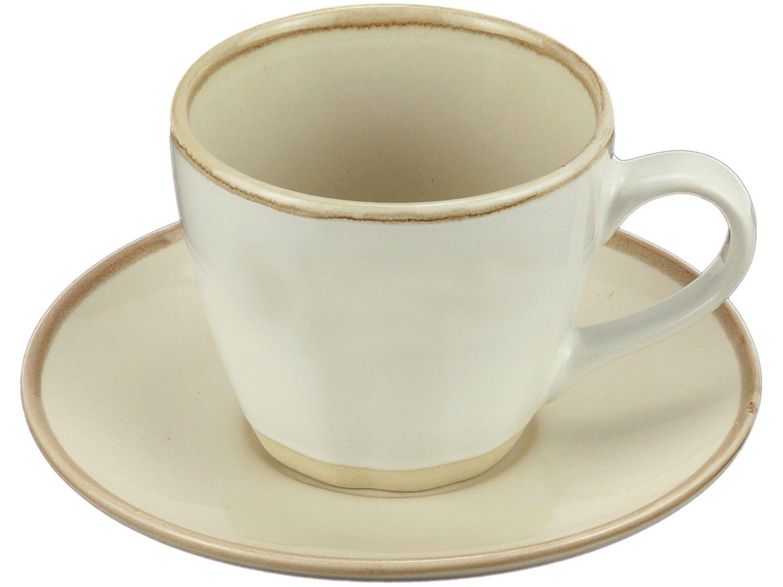 Conjunto de Xícaras 04 Peças Chá Cerâmica Bon Gourmet