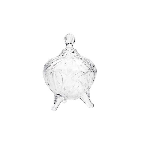 Potiche Cristal com Pé 01 Peça Fruit Lyor