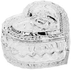 Potiche Cristal Mini Coração com Tampa Lyor