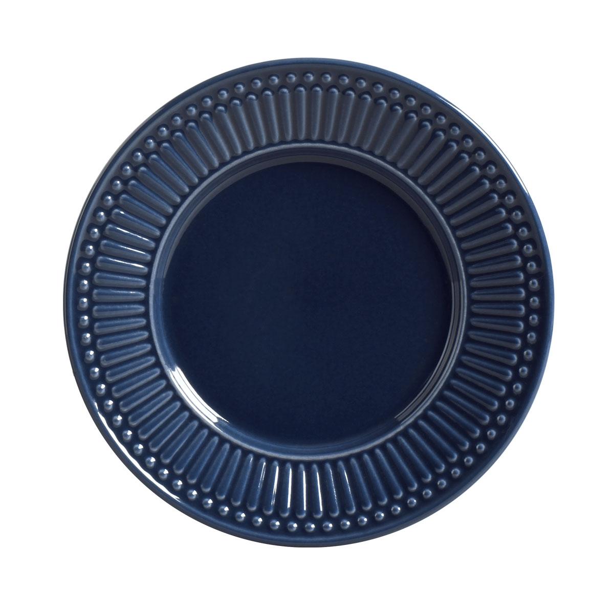 Prato de Sobremesa 01 Peça Roma Deep Blue 20,5 cm Porto Brasil