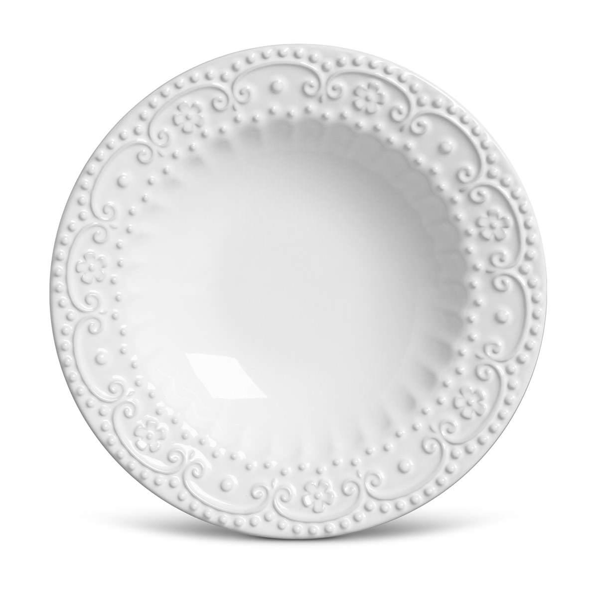 Prato Fundo 01 Peça Esparta Branco 22 cm Porto Brasil